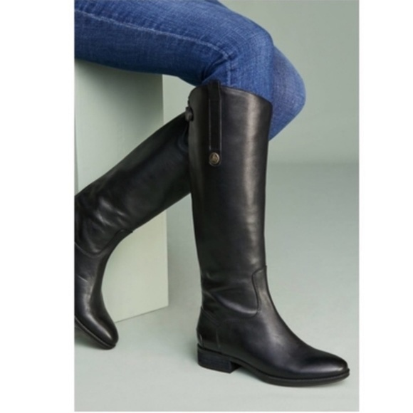 0b9a7a5a53f61 Sam Edelman Penny 2 Black Riding Knee High Boot. M 5c82f6fb5c4452c0e8afa478